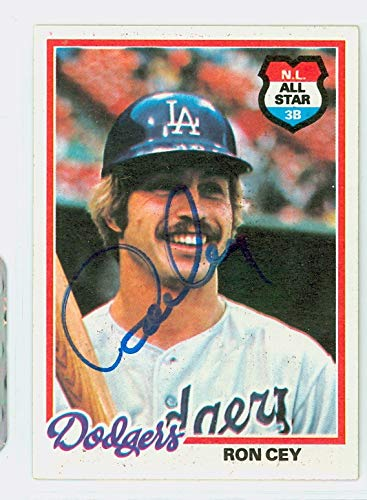Ron Cey AUTOGRAPH 1978 Topps #630 Los Angeles Dodgers ()