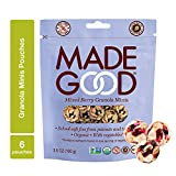 MadeGood Mixed Berry Granola Minis, 6 Pouches (3.5 oz each); School Safe Snack, Organic, Gluten Free, Allergy Friendly, Non-GMO, Nut Free, Crunchy Yet Chewy Granola Clusters of Oats and Berries Review