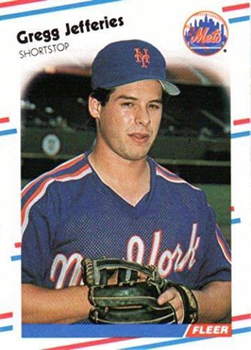 Gregg Jefferies 1988 Fleer Rookie Card Near Mint To Mint Mets