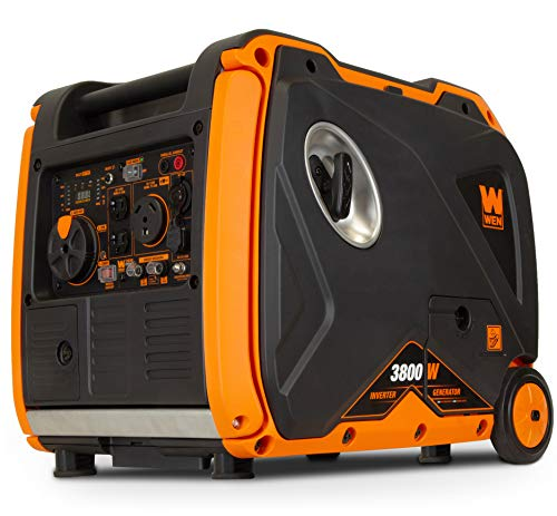 WEN 56380i Super Quiet 3800-Watt Portable Inverter Generator with Fuel Shut-Off and Electric Start WEN