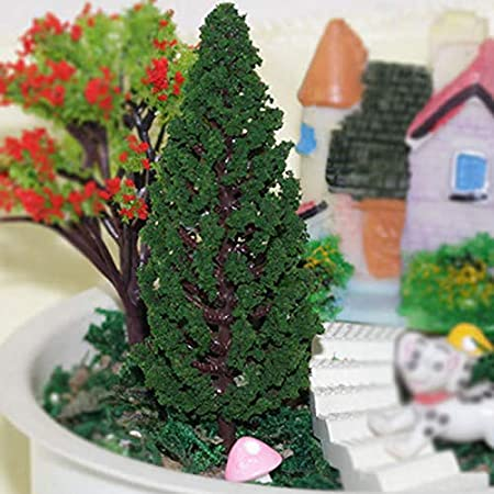 Nowbetter - Juego de 5 Mini árboles de Navidad de plástico ...