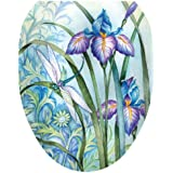Toilet Tattoos TT-1014-O Iris Beauty Decorative Applique for Toilet Lid, Elongated