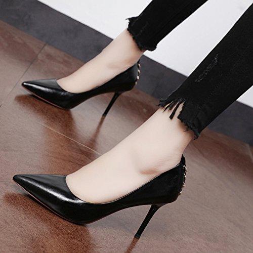 Xue Qiqi Pumps Die Dünne Spitze Licht - einzelne Schuhe Frauen Schuhe wilde fein mit high-heel Schuhe Schuhe am Arbeitsplatz