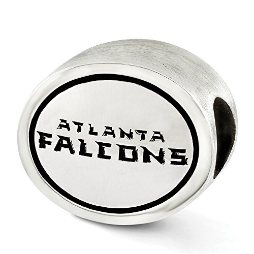 - Jewelry Beads Themed Sterling Silver Antiqued Atlanta Falcons NFL Bead