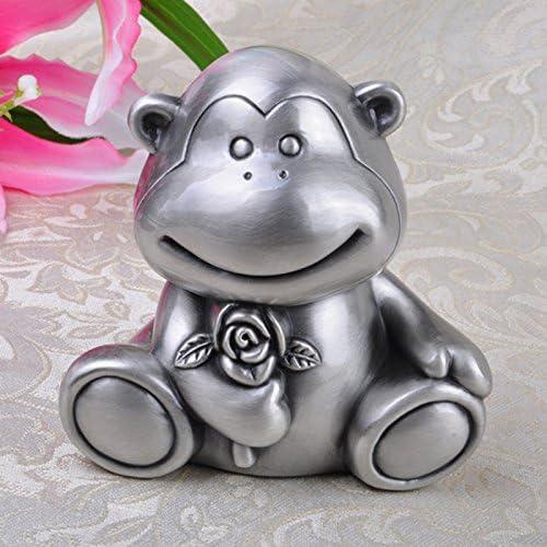 SU@DA Zink-Legierung europäischen Sparschwein kreativen Affen Piggy Tiere Änderung Lagerung Panzer Heim Handwerk , ancient tin , 11.8x9.8x11.5cm