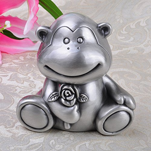 JY$ZB Zinc alloy European piggy bank creative monkeys piggy animals change storage tanks home crafts , (Lab Monkey)