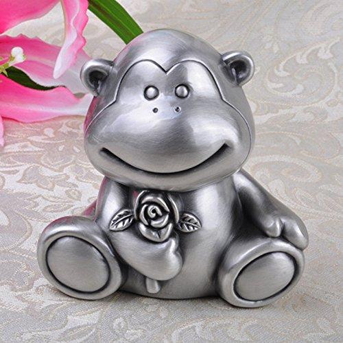 (JY$ZB Zinc alloy European piggy bank creative monkeys piggy animals change storage tanks home crafts , 11.8x9.8x11.5cm)