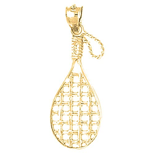 Rhodium-plated 925 Silver Tennis Racquets Pendant with 18 Necklace Jewels Obsession Silver Tennis Racquets Necklace