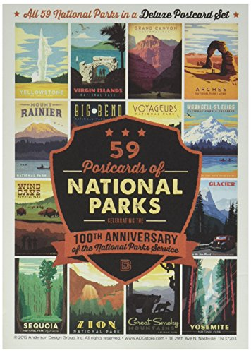59-piece Deluxe National Parks Postcard Set (59% Post)