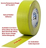 "ProTapes Pro Duct 110 PE-Coated Cloth General Purpose Duct Tape, 60 yds Length x 2"" Width, Green (Pack of 1)"