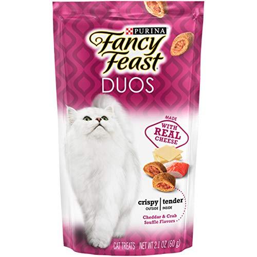 Purina Fancy Feast Duos Cat Treats Cheddar & Crab Souffle Flavors ~ 2.1 oz