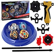 Hityblty Bay Battle Burst Avatar Attack Battle Set with Two String Launcher and Grip Starter Set