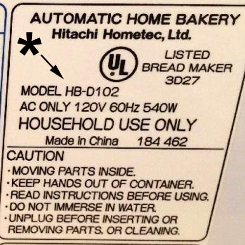 Hitachi HB-D102 Bread Machine Paddle Blade NEW HBD102 part maker breadmaker