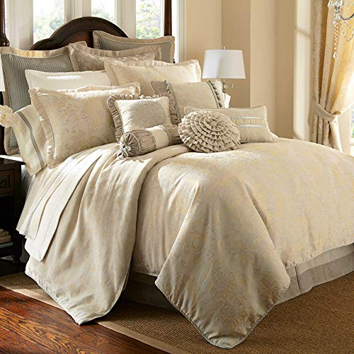 (Waterford Fine Linens Luxury Classic Bed Skirt Bedding Lysander Collection (Ivory, Cal King))