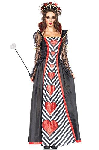 Leg Avenue Women's 2 Piece Wonderland Queen Costume, Multi, Large