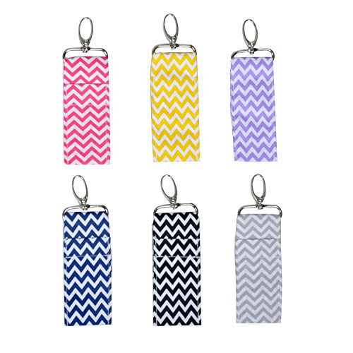 Chapstick Key Chain Holder with Clip Lip Balm Holder,6 Pack