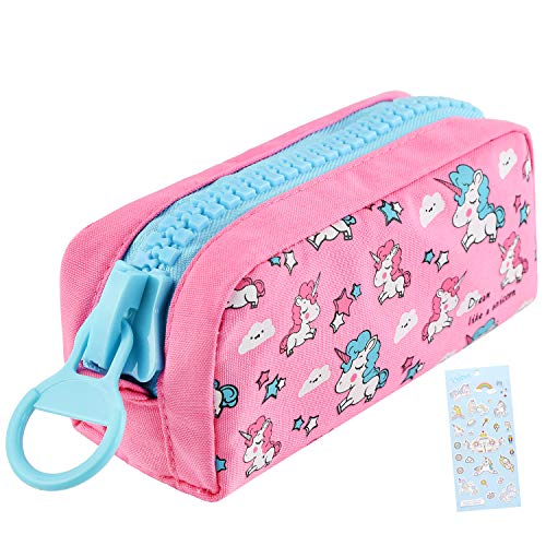 Unicorn Cute Pencil Case for Girls, Kids Makeup Bag and Pencil...