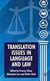 img - for Translation Issues in Language and Law book / textbook / text book