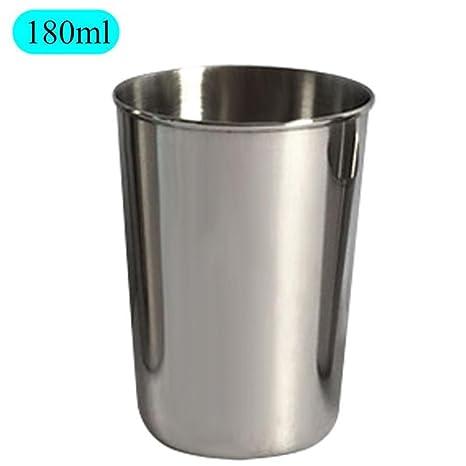 Goodevening Taza de Acero Inoxidable Vasos Copas de Metal ...