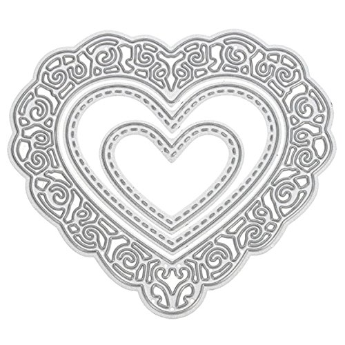 Cutting Dies Cut Metal Scrapbooking Love Heart Square Flower Star Sunflower Stencils Nesting Die for DIY Embossing Photo Album Decorative DIY Paper Cards Making Craft 9set (Set 5) by Eswala (Image #3)