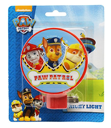 (Paw Patrol Marshall, Chase, and Rubble Red Shade Kids Nightlight)
