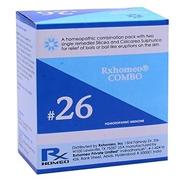Amazon com: Rxhomeo Combo # 26 - Boils: Health & Personal Care