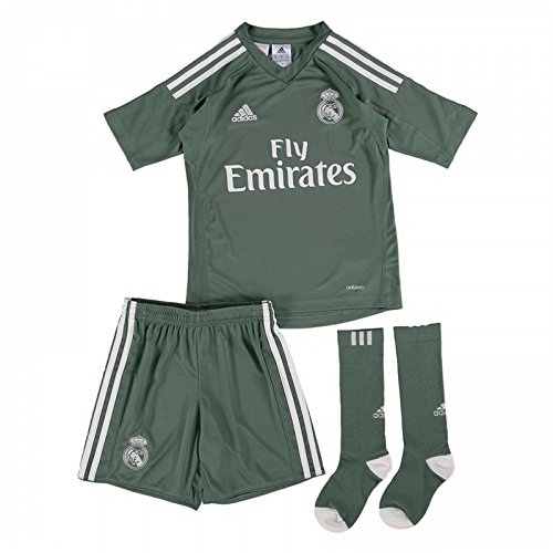 adidas 2017-2018 Real Madrid Home Goalkeeper Mini Kit ()