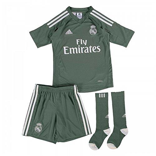 Adidas Goalkeeper Kit (2017-2018 Real Madrid Adidas Home Goalkeeper Mini Kit)