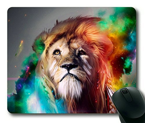 Price comparison product image Colorful Lion Rectangle Mouse Pad, Gaming Mouse Pad by Lilyshouse