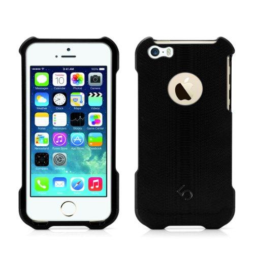 Alienwork Schutzhülle für iPhone SE/5/5S Stoßfest Hülle Case Bumper Aluminium schwarz AP537-01