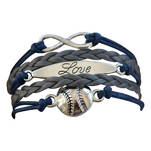 Baseball Bracelet or Softball Bracelet - Baseball Jewelry For Girls- Perfect Baseball - Charm Bracelet Baseball