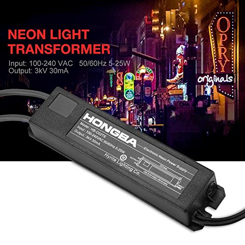 HB-C02TE 3KV 30mA 5-25W Power Supply for Glass Neon Sign Electronic Neon Light Transformer by Wal front (Image #5)