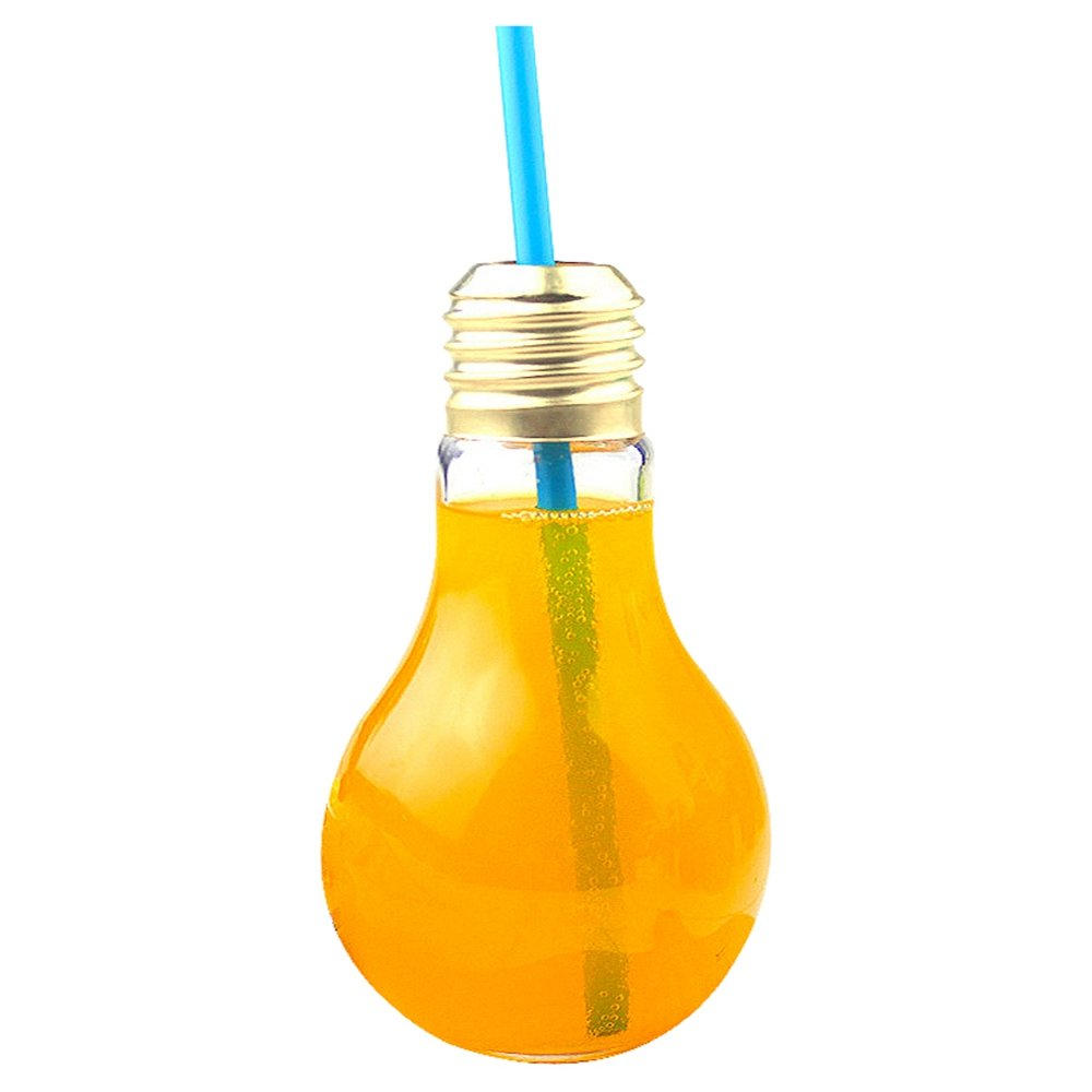Refaxi Gift for Children Light Bulb Bottle Plastic Bottle Shaped Drink Cup Christmas Thanksgiving Gift 300ml by ReFaXi (Image #2)