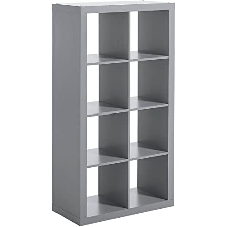 Better Homes and Gardens 8-cube Organizer Creates Multiple Storage Solutions Horizontal or Vertical Display Gray