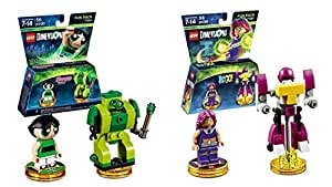 Lego Dimensions Girls Bundle of 2 - Powerpuff Girls Fun Pack (71343) and Teen Titans Go! Fun Pack (71287)