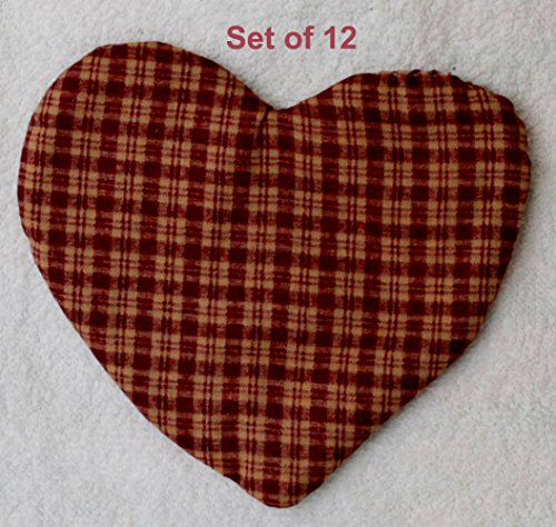 - JOINER Fabric Hearts, Quilted Hearts, Fabric Heart Ornament Set of 12, Heart Size: 5