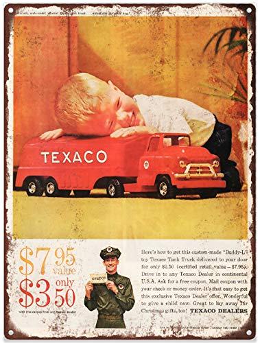 Yilooom 1959 Buddy L Texaco Gas Truck Toy Ad Metal Sign Repro 12