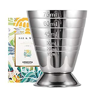 Homestia Argento Misurino Doppia Faccia Cocktail in Acciaio INOX Capacità 2.5oz 1 spesavip