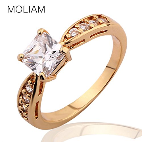 Fantastic 4 Costume Replica (Myn Jewelry Appealing Absorbing Designed Ring Gold Plating Ring Crystal Cubic Zirconia Fantastic Ring Women R115)