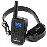 PetTech-Remote-Controlled-Dog-Training-Collar-Rechargeable-and-All-Weather-Resistant-All-Size-Dogs-10Lbs-100Lbs-1000ft-Range