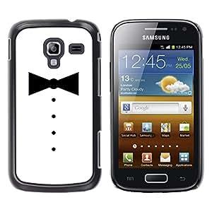 Samsung Galaxy Ace 2 i8160 / Ace2 II XS7560M, Radio-Star - Cáscara Funda Case Caso De Plástico (Minimalist Tuxedo Bowtie)