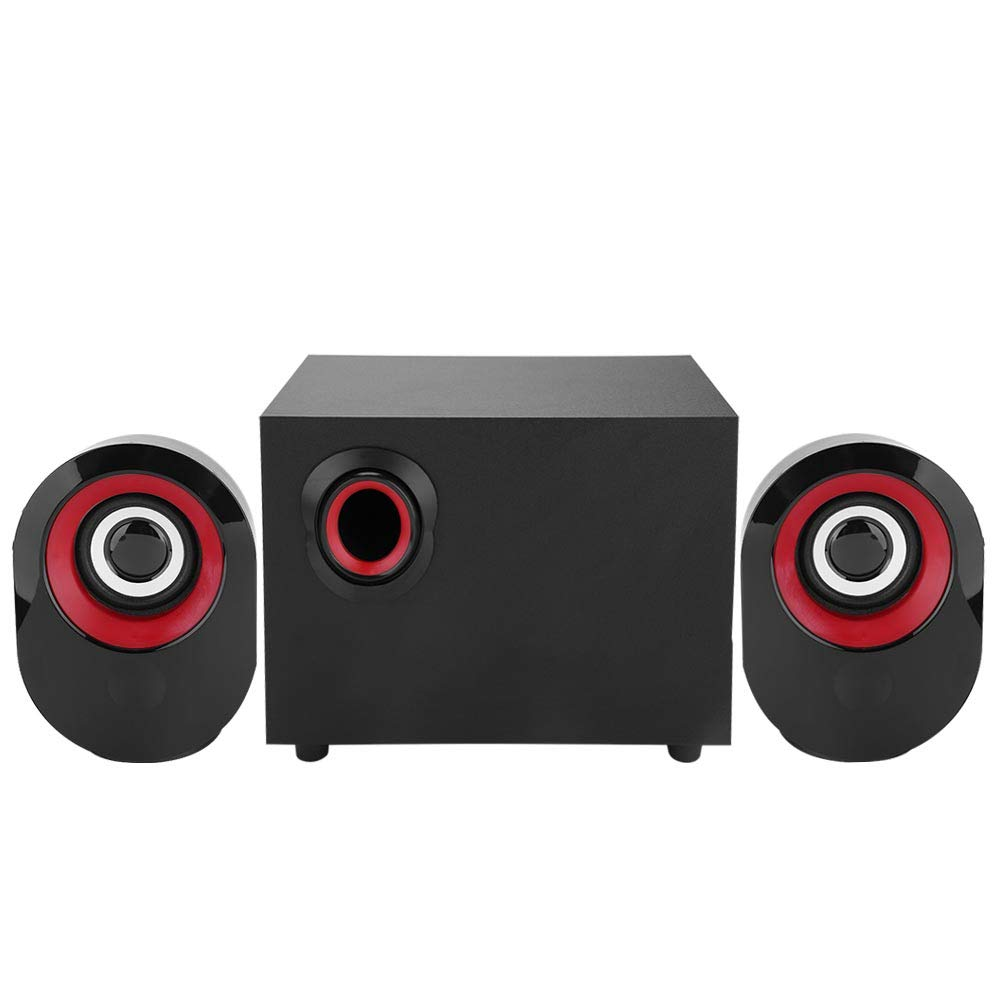 Aramox Computer Speakers,Heavy Bass Amplification Computer Speakers Lossless HiFi Music Graceful Computer Subwoofer PC/Laptop/Desktop