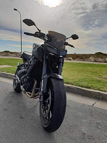 FidgetFidget Motorrad Windschutzscheibe Cockpitverkleidung f/ür Yamaha MT09 MT-09 FZ09 FZ-09 2017 2018 Schwarz