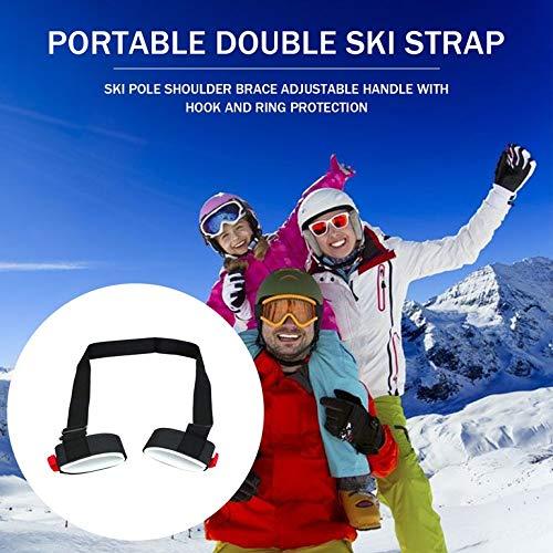 Snake Skiing Pole Shoulder Hand Carrier Adjustable Handle Strap Hook Loop Protecting