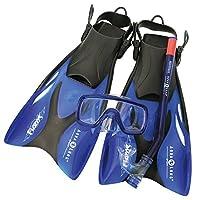 Aqua Lung Sport Schnorchelset für Kinder, Taucherbrille größenverstellbar
