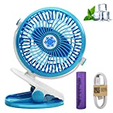 Portable Clip on Fan (with Free mesquito Netting) Bundle of 2