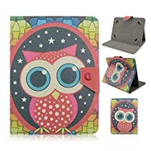 Tsmine Acer Iconia One 7 B1-730 Tablet Flip Cartoon Case - Universal Protective Lightweight Premium Kids Cute Owl Printed PU Leather Case Cover, Owl Under the Stars