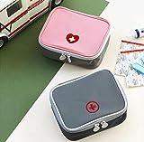 First Aid Kit Bag Travel Portable Medicine Package Emergency Kit Bags Medicine Storage Bag Small Organizer 2 pack (Pink+Grey)