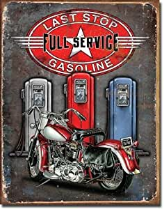 Tin Sign: Last Stop by Legends. Size 16.00 X 12.50 Art Poster Print on Canvas