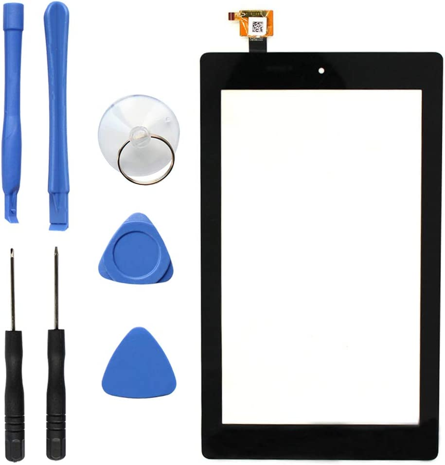 "S-Union New Digitizer Screen Replacement for Amazon Fire 7th Gen SR043KL 7"" Black (for 7th Generation 2017 Release)"